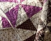 Chocolate Huckleberry Baby Pinwheel Quilt