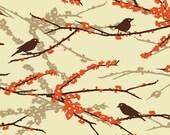 1 yard--Joel Dewberry Aviary 2 (Sparrows in Bark)