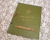 Army Scrapbook Vintage WWII Copyright 1942
