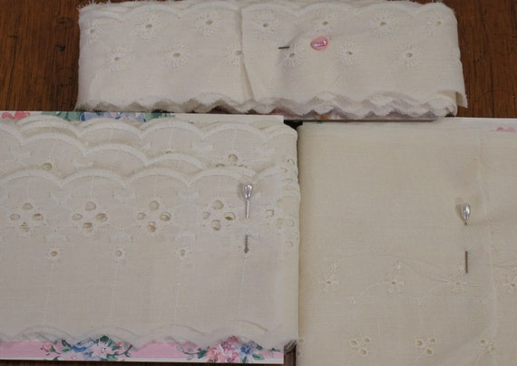 RESERVED FOR AMANDA Natural Eyelette Off White Cotton Trim 3 Styles