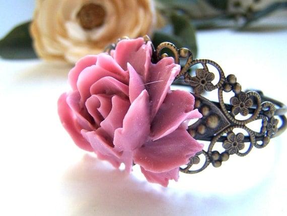 the mauve floral cuff bracelet.