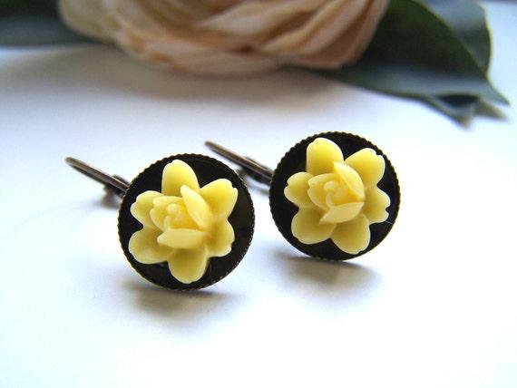 Yellow Gracie Dangle Earrings