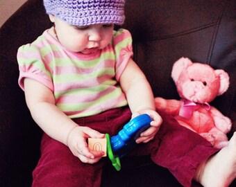 Crochet Newsboy Hat for Baby Boy or Girl