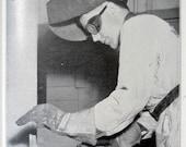 arc welding lessons for school farm shop 1965 vintage instructional book