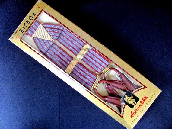 vintage hickok suspenders in original box mens accessories fashion
