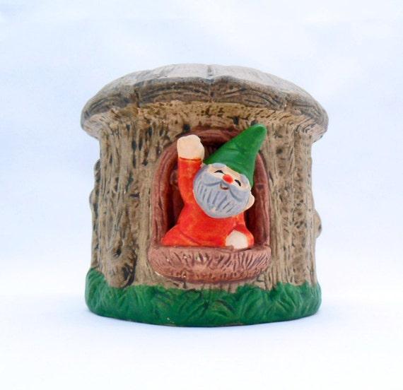 gnome planter flower pot enesco 70s kitsch