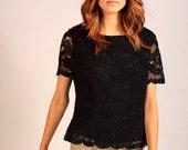 Black Lace Vintage Top