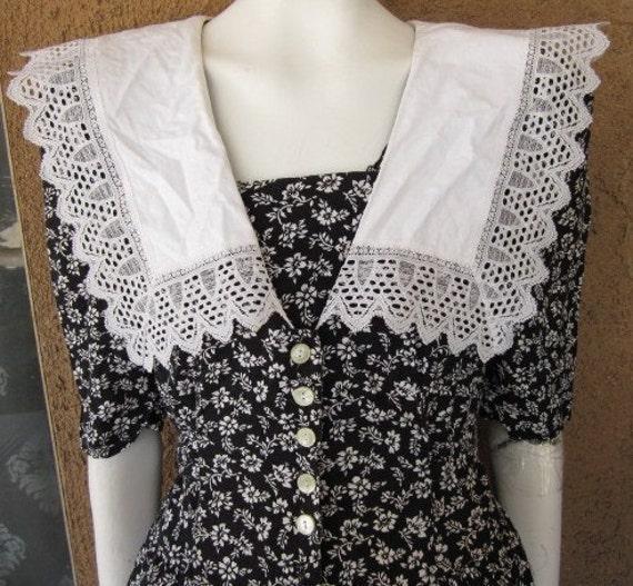 RESERVED  Floral Cotton Eber of San Francisco Secretary Dress