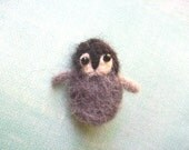 Fuzzy Eco Friendly Wool Felt Penguin Pin