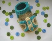 Crochet Baby Pattern , Peep-toe Sandals  (pdf pattern)