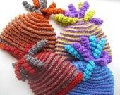 Crochet Pattern Hat , Newborn Baby to Adult, Crochet Beanie Pattern, Boy and Girl, Pdf pattern - Beehive Beanie