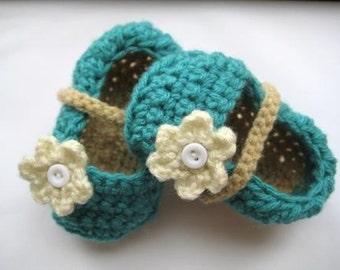 Crochet Pattern Baby Booties- INSTANT DOWNLOAD- Crochet Booties Pattern- Booties Crochet Pattern- Baby Booties Crochet Pattern- Ballet Flats