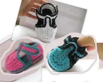 T-strap Crochet Baby Booties for Boys or Girls (pdf pattern for sale)