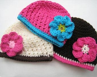 Crochet Hat Pattern,  Newborn Baby to Adult, pdf crochet beanie pattern, Fall Beanie
