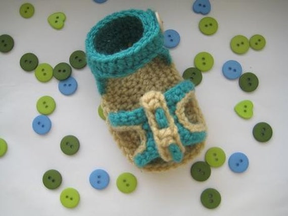 Crochet Baby Pattern , Peep-toe Sandals  (pdf pattern)