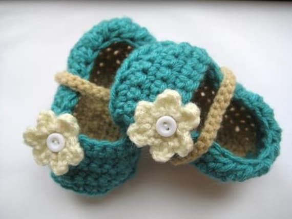Ballet Flats Crochet Baby Booties for Girls (pdf pattern)