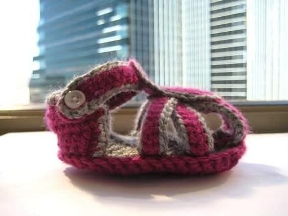 Casual Sandals Crochet Baby Booties Pattern (pdf pattern for sale)