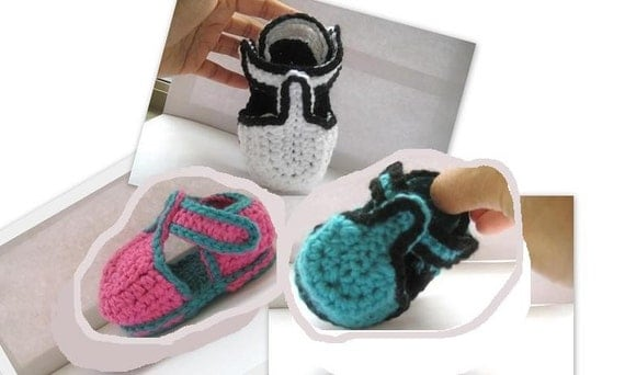 Free Crochet Pattern T Strap Booties : Items similar to T-strap Crochet Baby Booties for Boys or ...