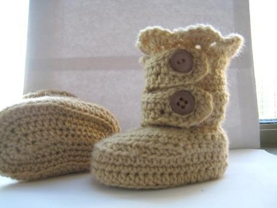 Crochet Baby  Pattern Shoes ,Booties, Classic Snow Boots , 4 Sizes (pdf pattern)
