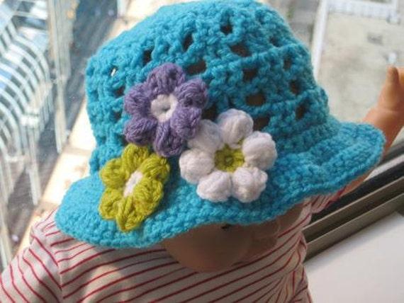 Baby Sun Hat  Crochet Pattern , Baby to 10 Years ( pdf pattern)