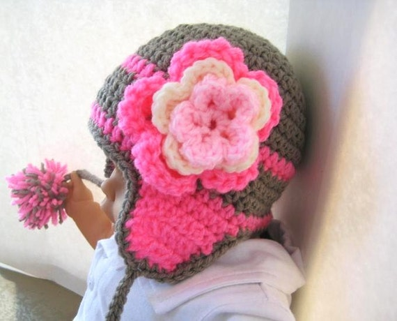 Crochet Pattern Newborn Girl Hat : Crochet Pattern Hat Newborn Baby to Adult Boy and Girl