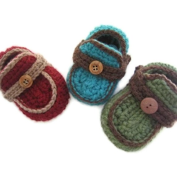 Baby Booties Free Crochet Pattern Moccasins : Boys Moccasins Crochet Baby Booties Pattern pdf pattern