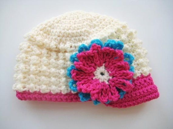 Crochet Hat Pattern , Newborn Baby to Adult,  Boy and Girl, Pdf pattern - Visor Beanie