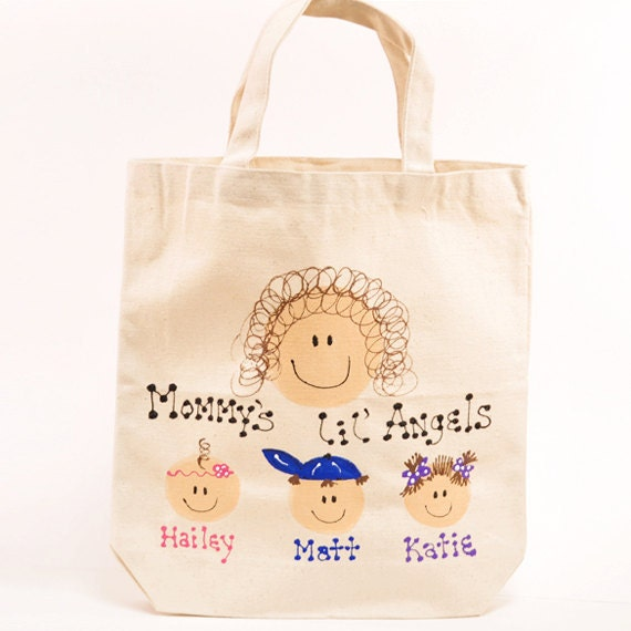 Mommy's lil' Angels -- Children Canvas Tote Bag