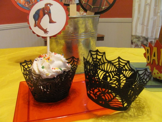 Super Hero Cupcake Wrappers for the Spiderman or Superman Fan