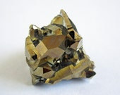 Gold Aura Quartz Cluster Ring