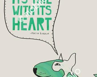 DIGITAL Bullterrier illustration-instant download-SUPPORT the Soi Dog Foundation