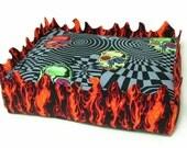 Pet Bed Fire Starter - Designer  - small- Machine washable cat bed - dog bed - pet beds