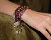 aluminum chain wrap bracelet - Pirate's Treasure