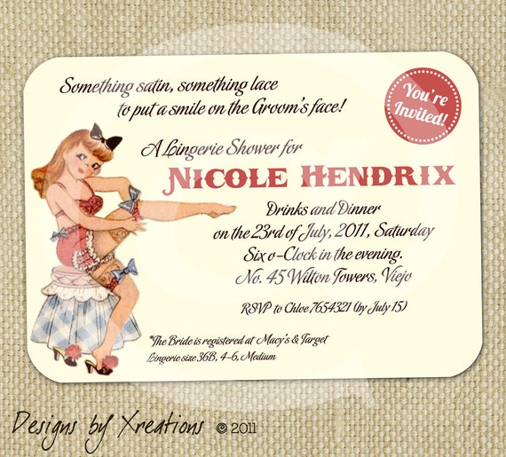 Retro Bridal Shower Invitations Matik For