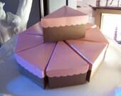 """MARIE ANTOINETTE inspired  """"Let them eat CAKE"""" - Chic Novelty Cake Slice Boxes"""