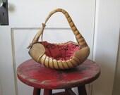 Vintage Armadillo Basket