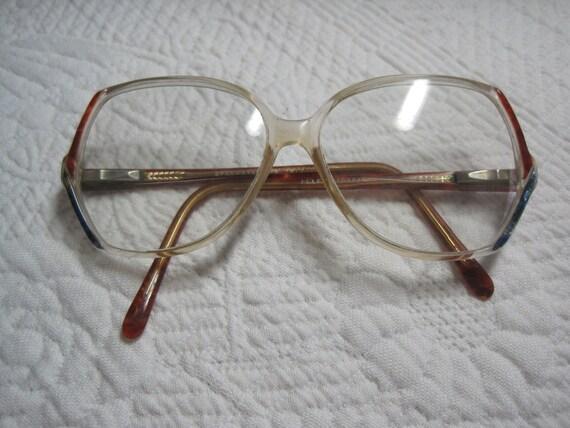 Vintage Eyewear 1970s Large Frame Womens Eyewear American Hustle Glasses with Metal Details at Temple
