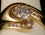Round White Diamond Wedding Set -  Hard to find clarity of VS1