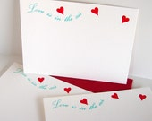 Valentine Letterpress Cards Love is in the Air
