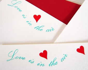 Letterpress Cards Love is in the Air