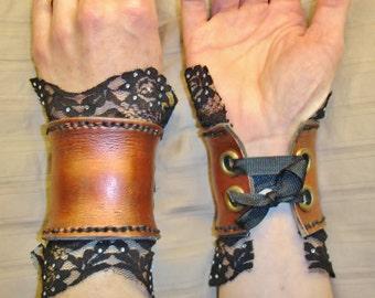 Steampunk Leather Wrist Cuffs