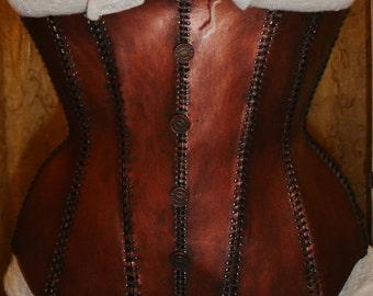 Custom Steampunk Copper Corset XS-M