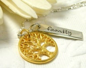 family tree necklace anniversary wedding new family blended family necklace