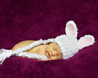 Ready to Ship - Baby Hat - Bunny Hat  -  Baby Bunny Hat - Baby Hat - Easter Bunny Hat - by JoJosBootique