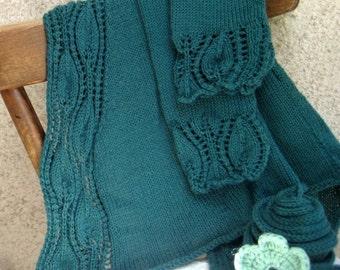 Knit mohair lace cardigan sweater vest, custom hand knit top, teal / deepskyblue / silver grey soft yarn, maternity jacket, women gift idea