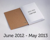 Daily Planner Calendar June 2012 - May 2013 - Coptic Bound w/ customized thread color