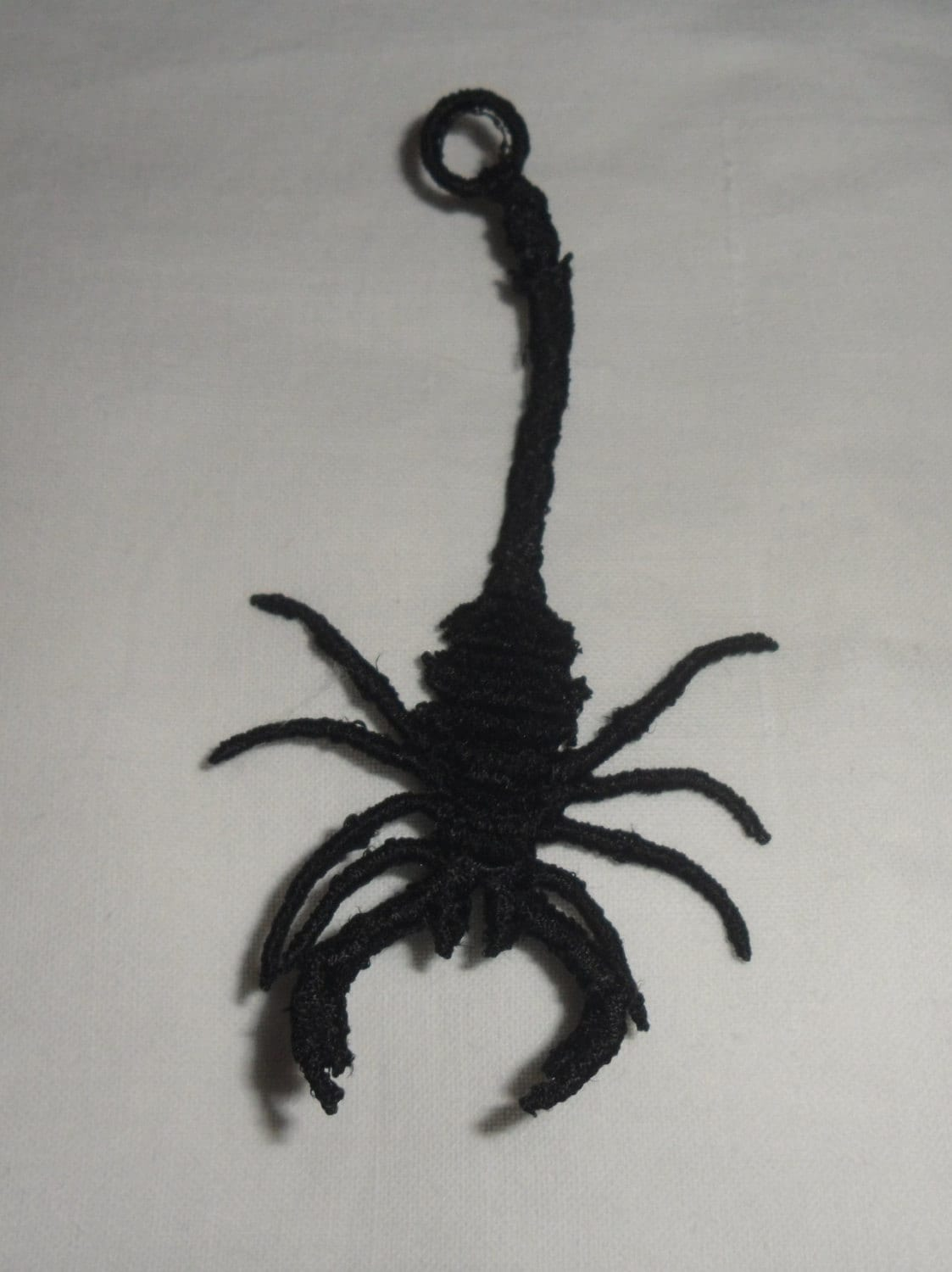 UK Black Lace Applique Set Of 3 X SMALL SCORPION...use For