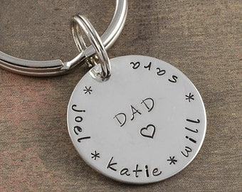 Personalized Key Chain for Dad - or Mom - names or words - you pick it