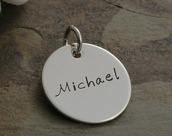 Add a Charm - 0.75 inch sterling silver round disc - 3/4""