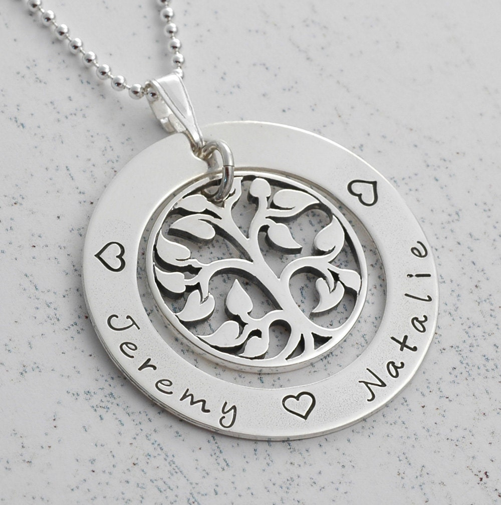 family tree necklace personalized necklace s